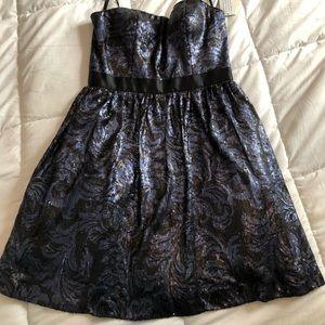 Aiden Mattox sequin cocktail dress.  Navy & black